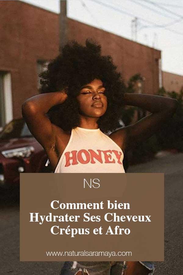 Comment bien hydrater ses cheveux crépus et afro.